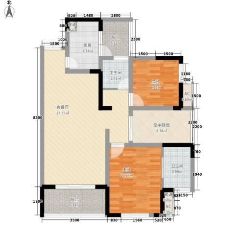 鲁能高尔夫一区别墅2室1厅2卫1厨229.00㎡户型图
