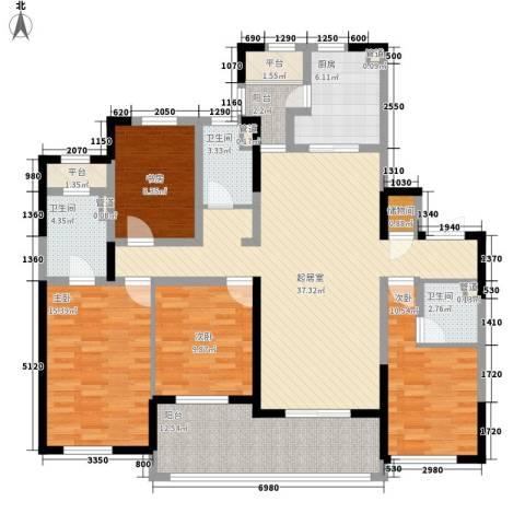 新城香悦半岛4室0厅3卫1厨170.00㎡户型图