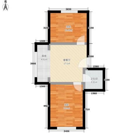 隆达丽景世纪城2室1厅1卫0厨57.00㎡户型图