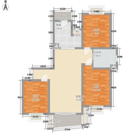 中虹明珠苑3室0厅1卫1厨138.00㎡户型图