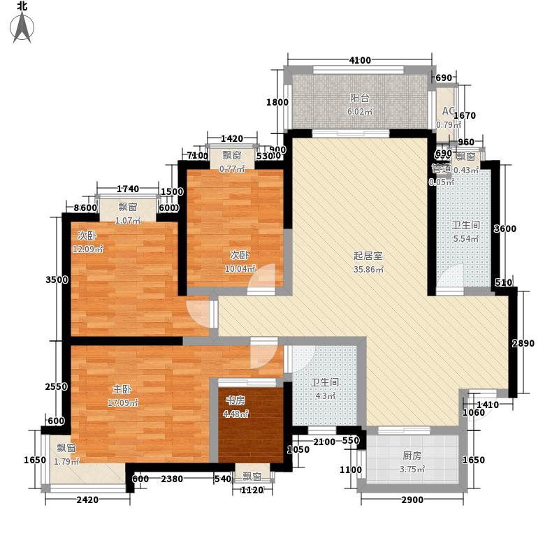 通渭路文化馆家属院A户型:四房两厅两卫,137.85平米_调整大小户型4室
