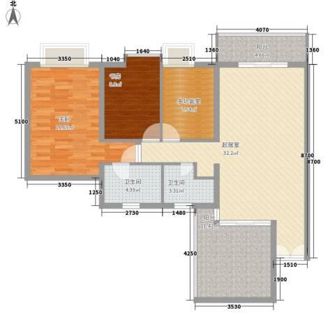 黄埔雅苑二期2室0厅2卫0厨126.00㎡户型图