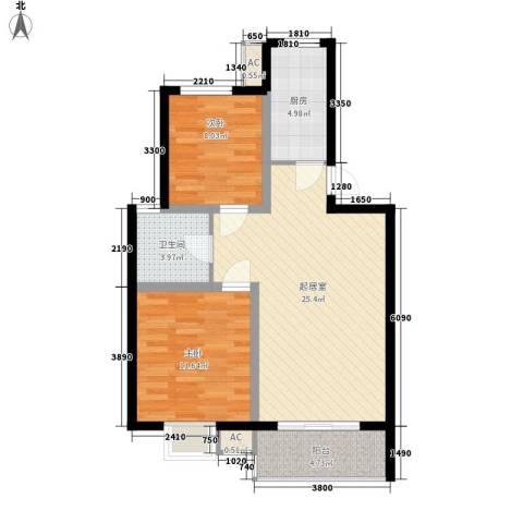 宸欣家园2室0厅1卫1厨78.00㎡户型图