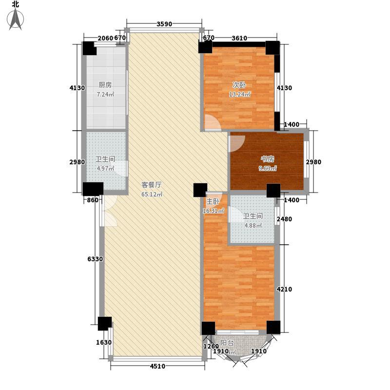 中广宜景湾170.54㎡170.54平方米户型3室2厅2卫1厨