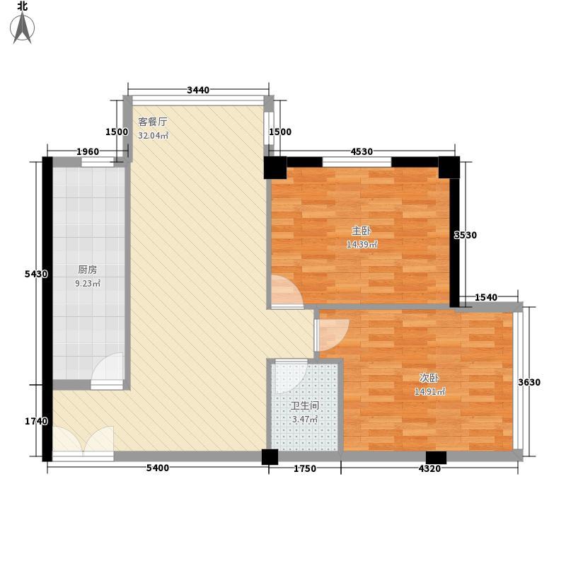 中广宜景湾100.97㎡100.97平方米户型2室2厅1卫1厨