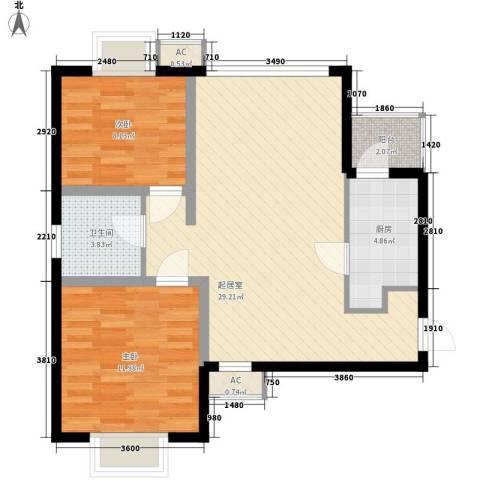 宸欣家园2室0厅1卫1厨82.00㎡户型图