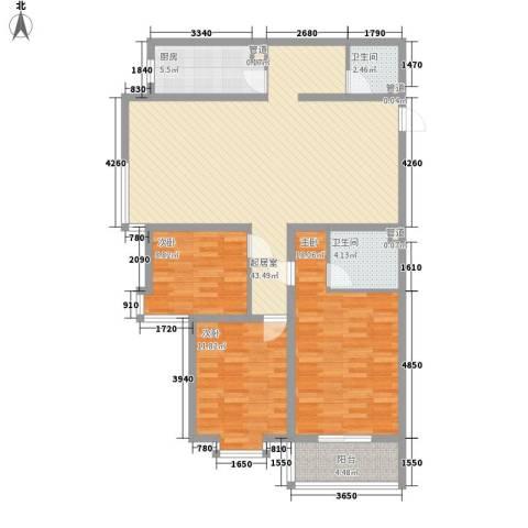 鑫源名居3室0厅2卫1厨140.00㎡户型图