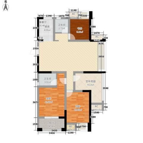 永宁雅苑3室1厅2卫0厨103.49㎡户型图