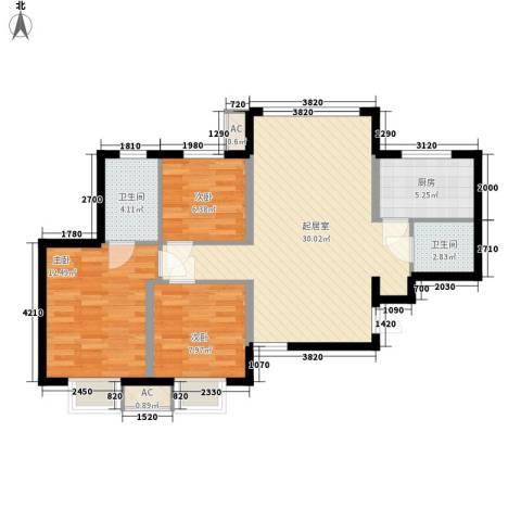 宸欣家园3室0厅2卫1厨70.54㎡户型图