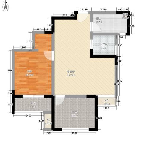 永宁雅苑1室1厅1卫1厨73.00㎡户型图