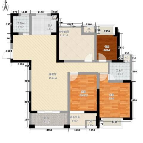 永宁雅苑3室1厅2卫0厨110.00㎡户型图
