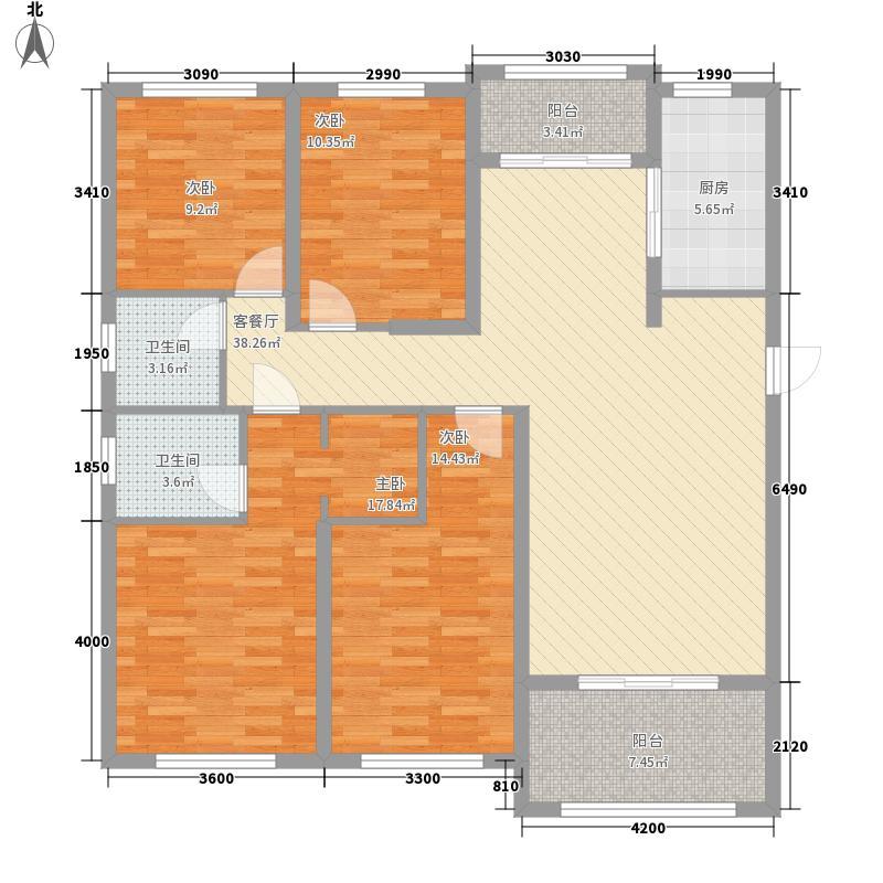 世纪荣华15.14㎡7#楼南北朝向A1户型4室2厅2卫1厨