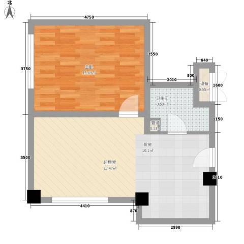 和平大道1室0厅1卫0厨62.00㎡户型图
