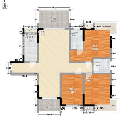 春江花月3室0厅2卫1厨134.00㎡户型图