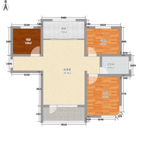 圣博・未来城3室0厅1卫1厨83.91㎡户型图