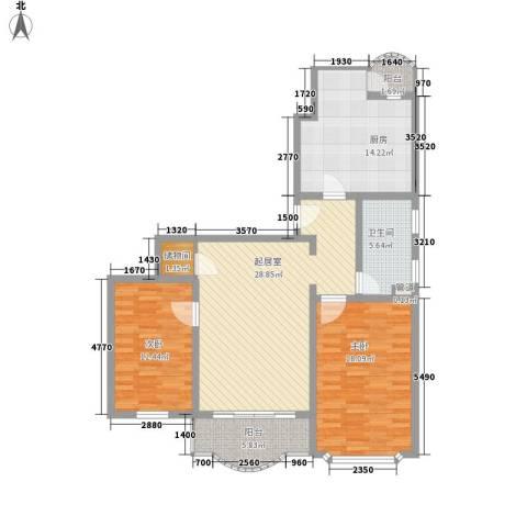 申达枫桥苑2室0厅1卫1厨126.00㎡户型图