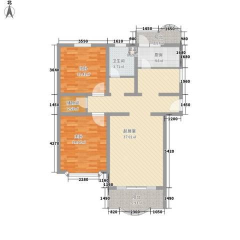 申达枫桥苑2室0厅1卫1厨119.00㎡户型图