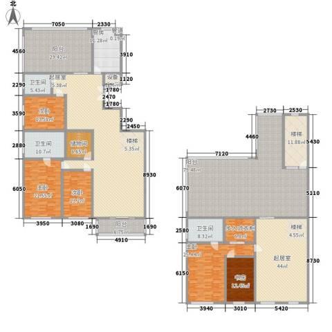 五栋大楼5室0厅3卫1厨383.85㎡户型图