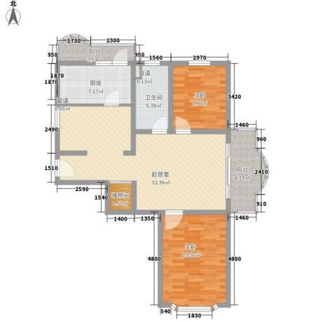申达枫桥苑2室0厅1卫1厨116.00㎡户型图