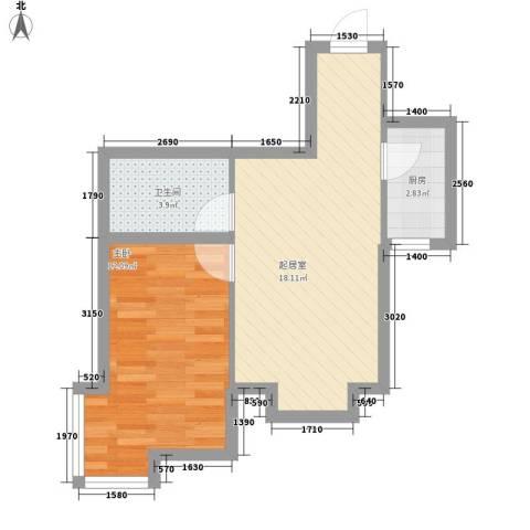 沈阔家园1室0厅1卫1厨53.00㎡户型图