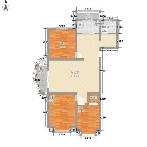海景怡园3室0厅1卫1厨118.00㎡户型图