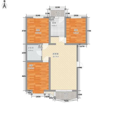 海景怡园3室0厅1卫1厨107.00㎡户型图