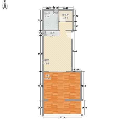 成远大厦1室1厅1卫0厨86.00㎡户型图