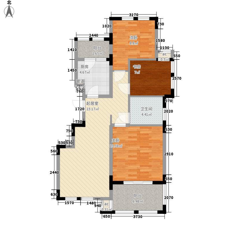 中大诺卡小镇103.00㎡中大诺卡小镇户型图三期1#楼B-4户型3室2厅2卫1厨户型3室2厅2卫1厨