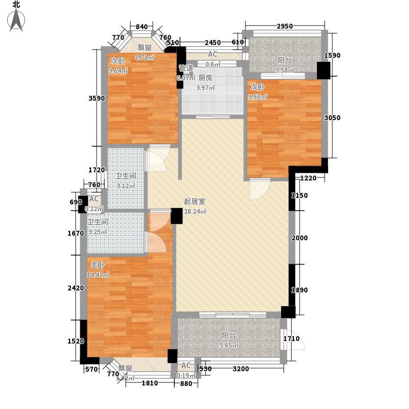 中胜财富天下118.00㎡中胜财富天下户型图A1户型118平米3室2厅2卫1厨户型3室2厅2卫1厨