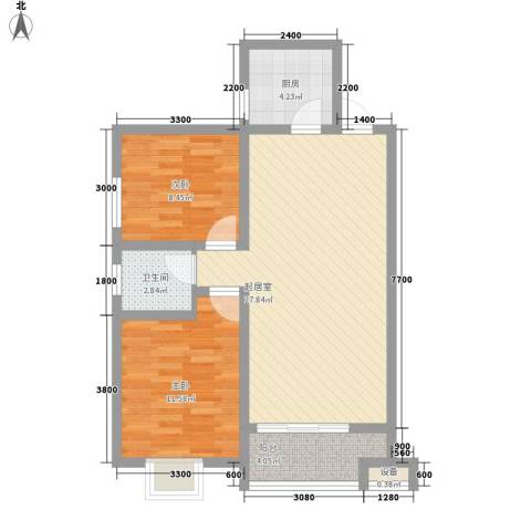 �灞雅苑2室0厅1卫1厨87.00㎡户型图