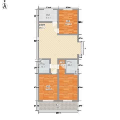 观庭3室0厅2卫1厨140.00㎡户型图