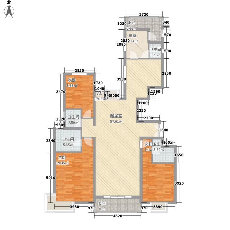 童博园185.36㎡户型4室2厅4卫
