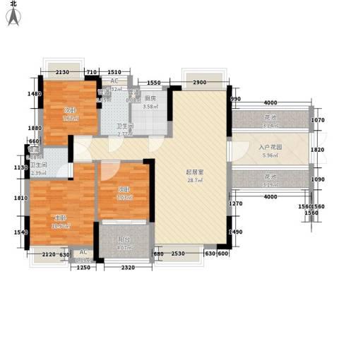 联泰香域滨江桥郡3室0厅2卫1厨119.00㎡户型图