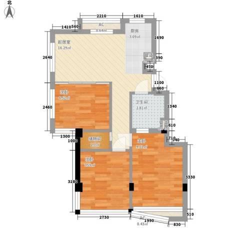九龙百变新郡3室0厅1卫0厨44.88㎡户型图