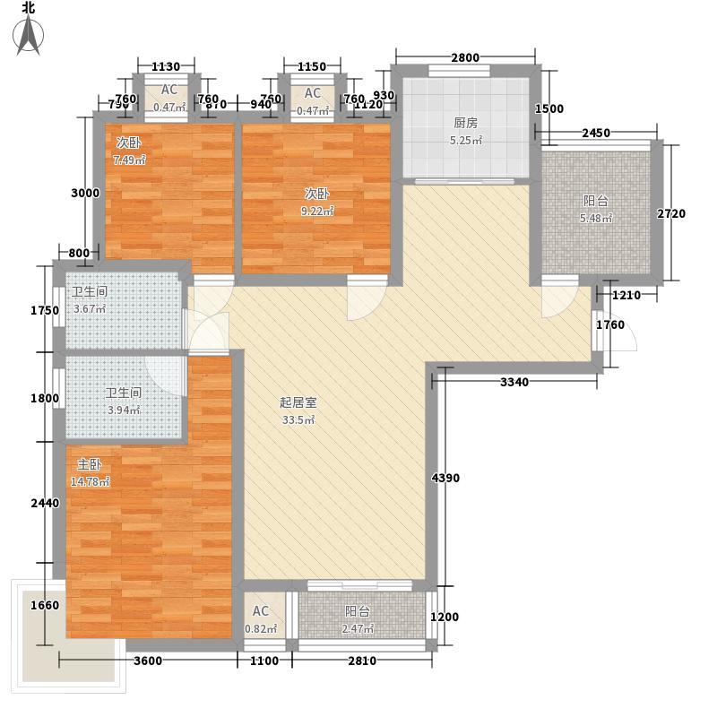 盛世景湾115.00㎡盛世景湾户型图B1户型3室2厅2卫1厨户型3室2厅2卫1厨