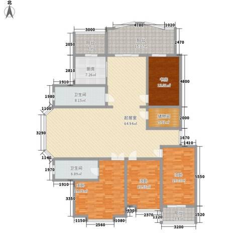 观江首府4室0厅2卫1厨180.00㎡户型图