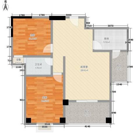 运河名都2室0厅1卫1厨73.47㎡户型图