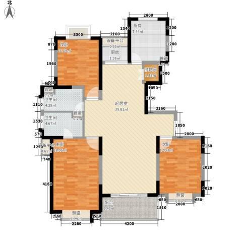 南方城3室0厅2卫2厨142.00㎡户型图