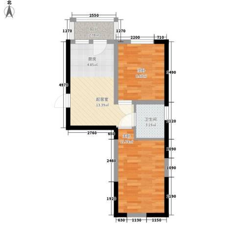 橄榄城2室0厅1卫0厨39.42㎡户型图