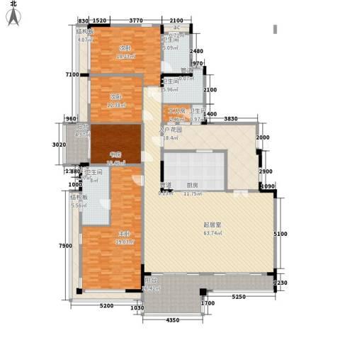 万科虹溪诺雅别墅4室0厅4卫1厨235.00㎡户型图