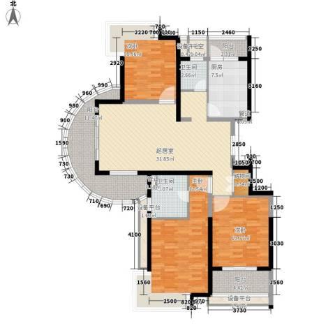 南方城3室0厅2卫1厨141.00㎡户型图