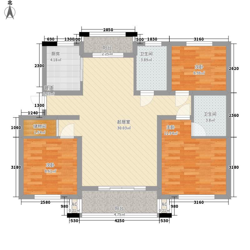 鼓楼115.00㎡小区户型3室