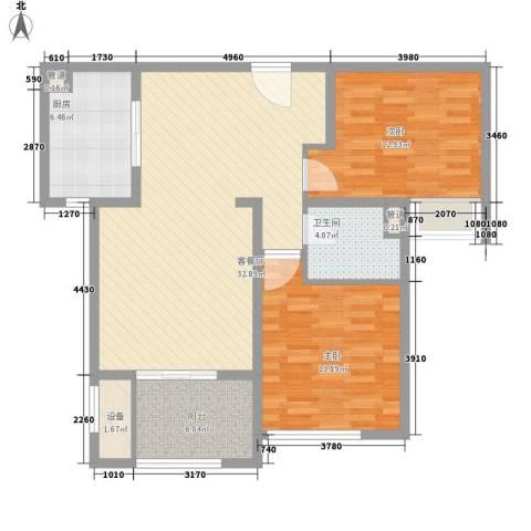 星光耀广场2室1厅1卫1厨112.00㎡户型图