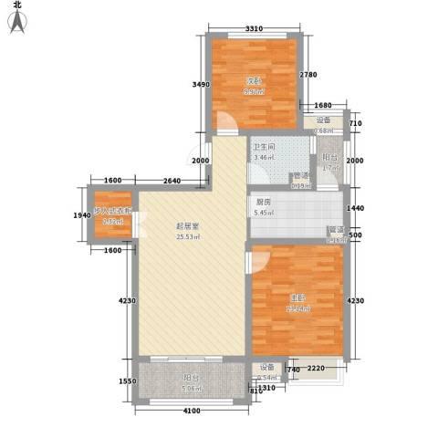 上品・长安人家2室0厅1卫1厨92.00㎡户型图