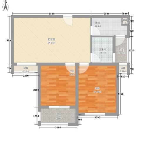 上品・长安人家2室0厅1卫1厨90.00㎡户型图