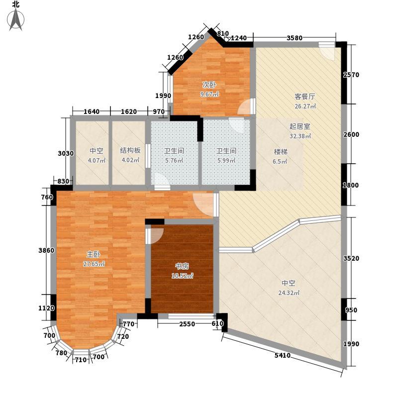 新亚洲花园175.42㎡新亚洲花园户型10室