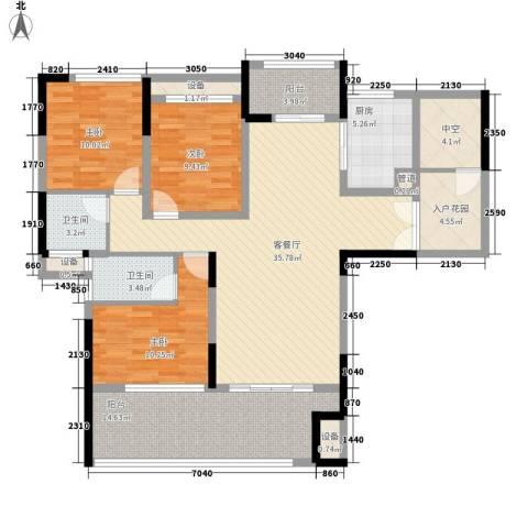宣佳世纪嘉园3室1厅2卫1厨128.00㎡户型图