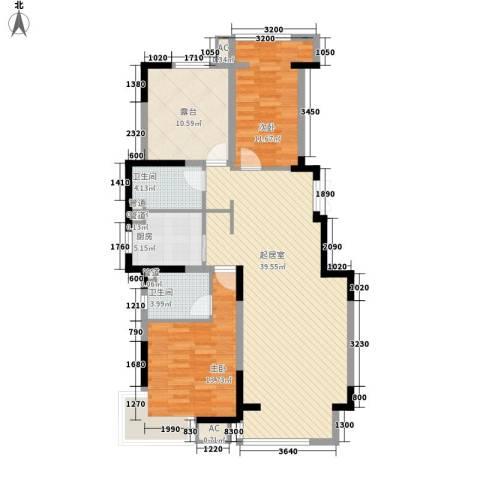 棠棣2室0厅2卫1厨118.00㎡户型图