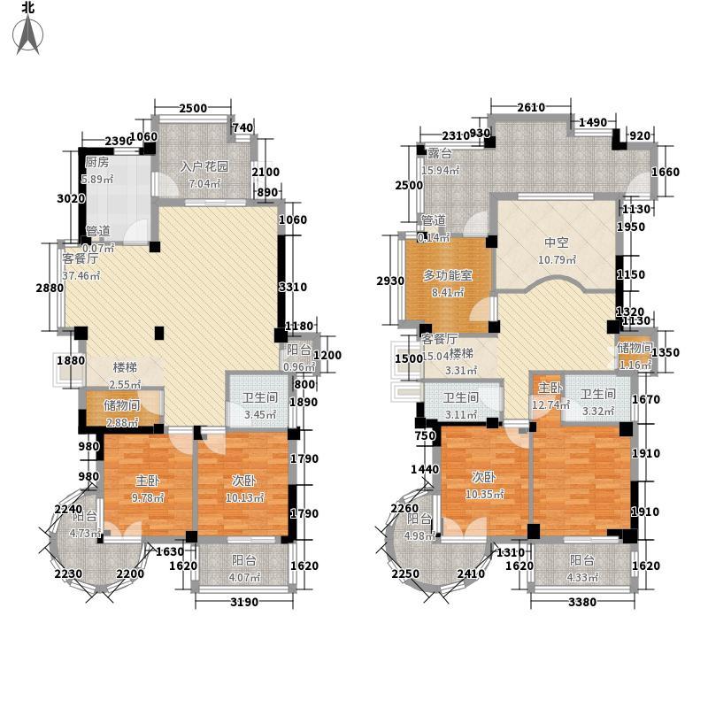 金汇豪庭255.00㎡金汇豪庭户型图5室3厅3卫1厨户型10室