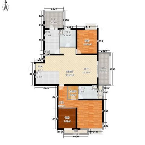 绿地21城A区3室1厅2卫1厨158.00㎡户型图